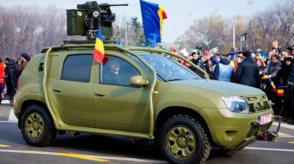 Duster blindado é mostrado na Romênia