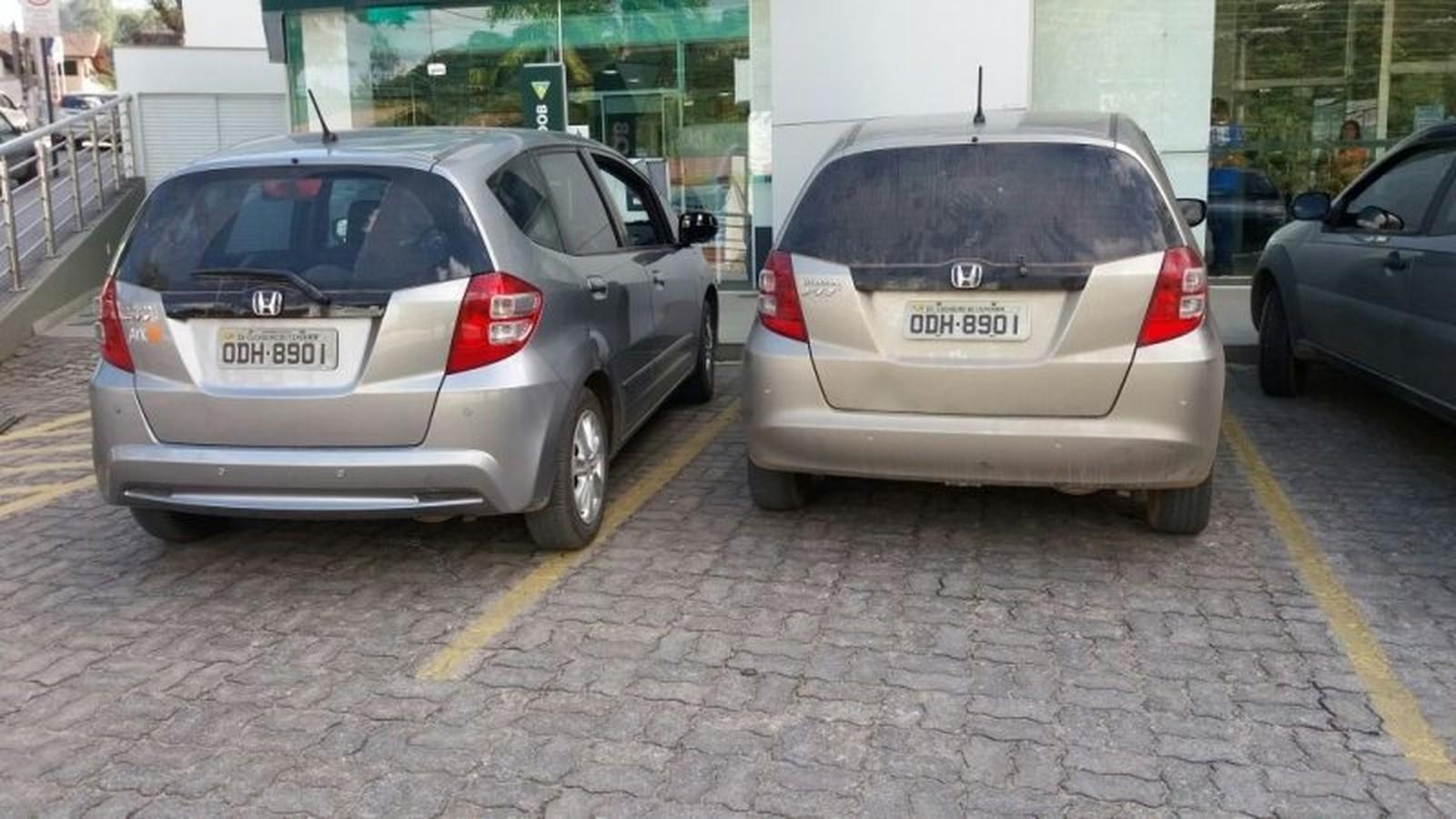 Motorista descobre carro clonado na vaga ao lado